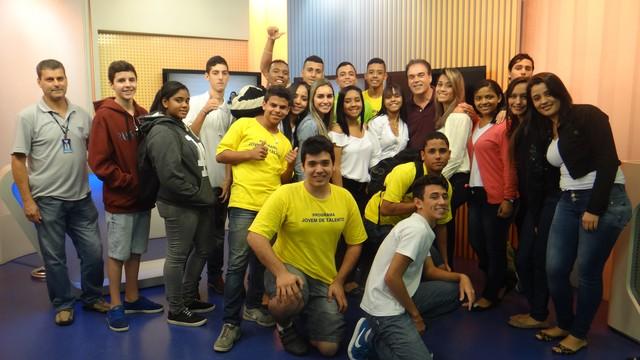 Visita técnica de jovens aprendizes do SENAC (Foto: Fernanda Maciel)