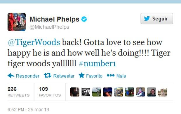 Twitter Michael Phelps (Foto: Reprodução / Twitter)