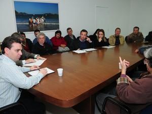 Reunião em Florianópolis definiu rumos da força-tarefa. (Foto: Petra Mafalda/Prefeitura Municipal de Florianópolis)