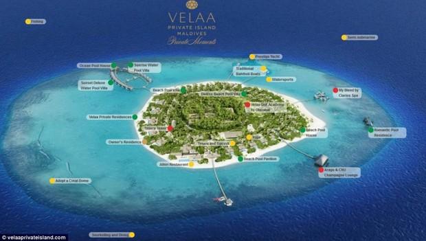 Mapa do resort em que Talula Pascoli e o marido estão hospeados (Foto: Reprodução)