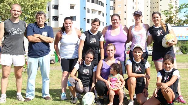 Primeiro treino do rugbi do time feminino de Mogi das Cruzes (Foto: Thiago Fidelix)