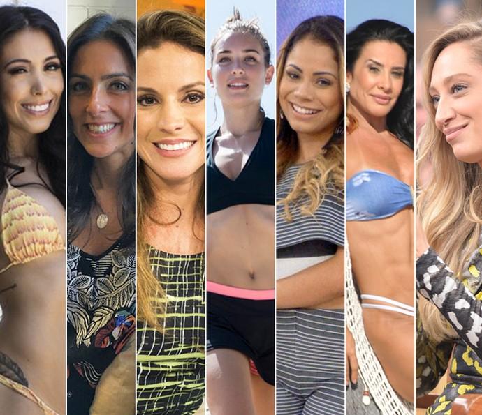 Bella Falconi, Carol Barcellos, Maíra Charken, Marcela Fetter, Lexa, Scheila Carvalho e Talytha Pugliesi estão no Saltibum 2016! (Foto: Gshow/TV Globo)