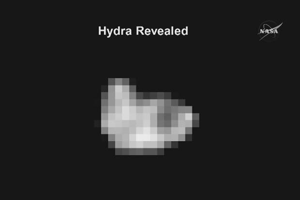 Hidra, uma das luas de Plutão (Foto: Nasa TV/Divulgação)