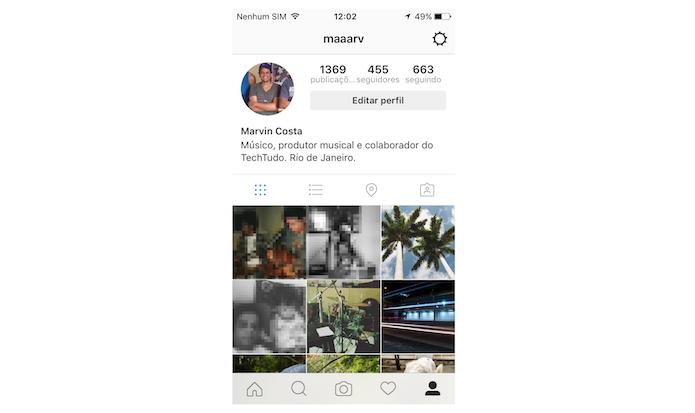 Foto importada do Facebook para o perfil do Instagram (Foto: Reprodução/Marvin Costa)