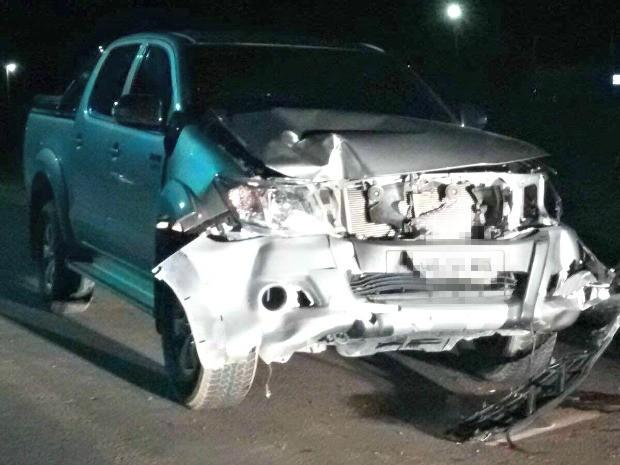 Veículo atingiu vítimas após ultrapassagem, diz polícia (Foto: Arquivo Pessoal)