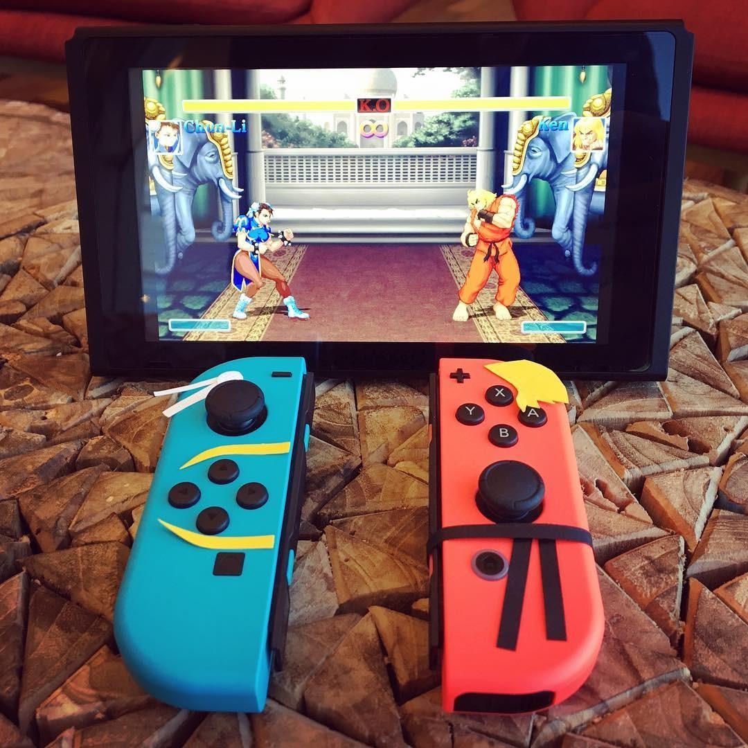 O Nintendo Switch com uma de suas muitas opções de personalização (Foto: Reprodução/Instagram)