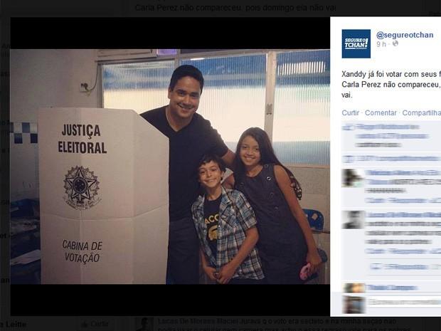 Meme brinca com Carla Perez em dia de eleições (Foto: Reprodução/Facebook)
