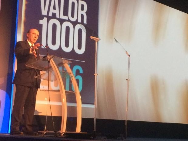 O Ministro da Fazenda, Henrique Meirelles, durante evento em São Paulo nesta segunda (12), em São Paulo (Foto: Darlan Alvarenga/G1)