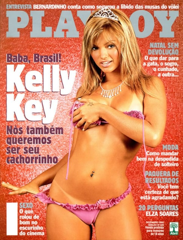Kelly Key foi capa da Playboy em dezembro de 2002 (Foto: Reprodução)