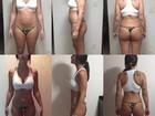 Ex-BBB Rodrigo Carvalho mostra que mulher perdeu dez quilos em 20 dias