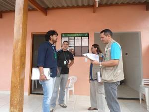 Agentes do Procon-AC e Vigilância Sanitária fiscalizam motéis e hotéis em Rio Branco (Foto: Paulo Santiago/Ascom Procon-AC)