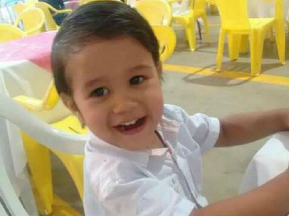 Luis Felipe dos Santos Machados tem dois anos e nove meses (Foto: Arquivo pessoal)