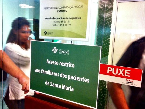 Sala de convivência foi criada para familiares das vítimas de Santa Maria (Foto: Luiza Carneiro/ G1)