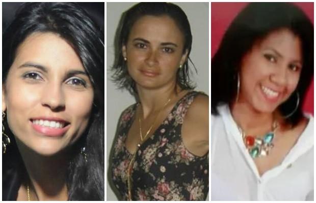 Juliana Neunbia, Rosirene Gualberto e Arlete dos Anjos são vítimas do suposto serial killer em Goiânia, Goiás (Foto: Arte/ G1)