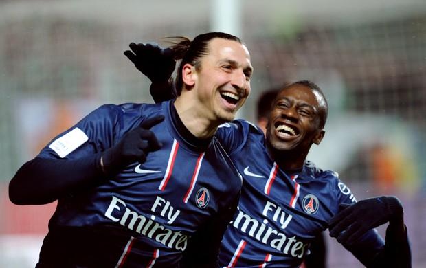 Ibrahimovic gol PSG (Foto: AFP)