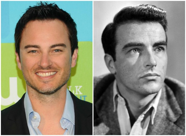 Kerr Smith, o Jack McPhee da série 'Dawson's Creek' (1998–2003), guarda semelhança com o grande ator Montgomery Clift (1920-1966). (Foto: Getty Images e Domínio Público)