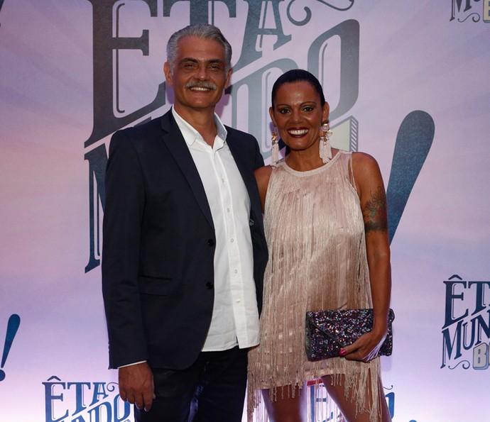 """Tarcisio Filho e Mocita Rodrigues na coletiva de 'Êta Mundo Bom!"""" (Foto: Inácio Moraes/Gshow)"""