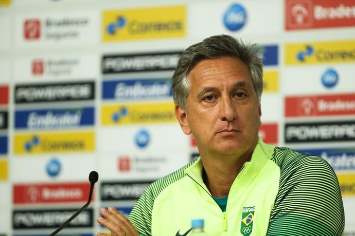 Marcus Vinícius Freire, superintendente executivo de esportes; coletiva COB (Foto: Saulo Cruz/COB)