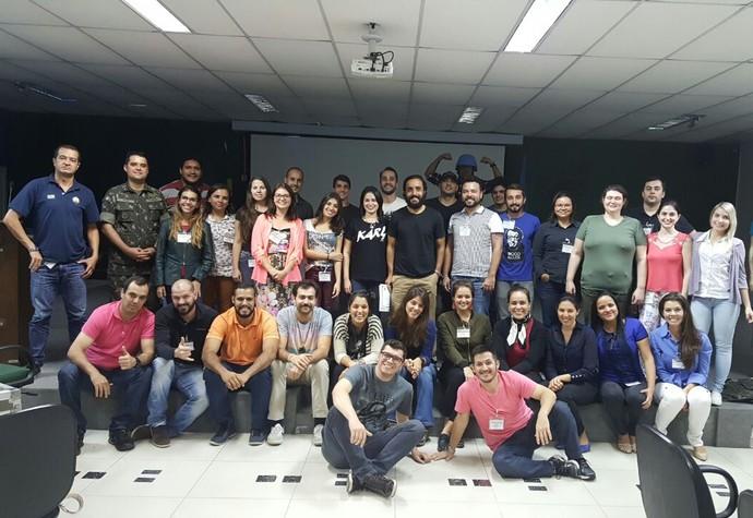 Grupo de 35 jornalistas do país inteiro participou do curso (Foto: Arquivo Pessoal)