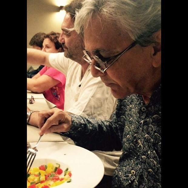 Caetano Veloso com dois óculos (Foto: Reprodução/Instagram)