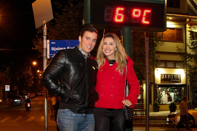 Eles curtiram temperatura de 6ºC (Foto: Danilo Carvalho e Thais Aline/ Ag. Fio Condutor)
