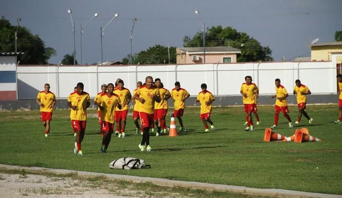 Princesa do Solimões treino (Foto: Sandro Hirochi/Princesa)