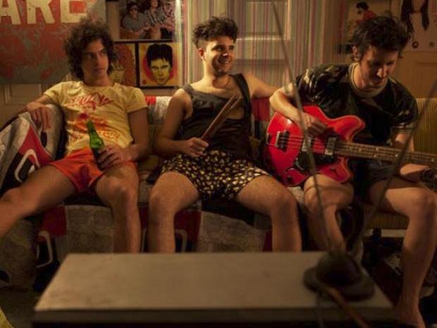 Juliano Enrico, Raul Chequer e Daniel Furlan em cena de 'Overdose' (Foto: Divulgação)