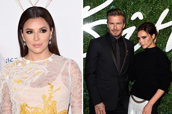Eva Longoria e os Beckham (Foto: Getty Images)