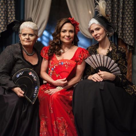 Jussara Freira, Luiza Tomé e Karen Marinho (Foto: Edu Moraes)