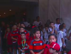 Flamengo, entrada em campo na Arena Amazônia (Foto: Reprodução SporTV)