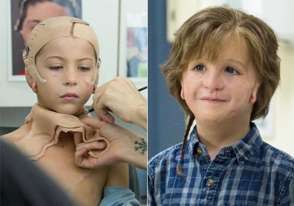"""Jacob Tremblay mostra maquiagem para """"Extraordinário"""" (Foto: Instagram/Reprodução)"""