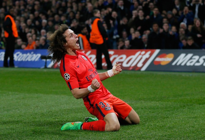 David Luiz gol PSG x Chelsea (Foto: Reuters)