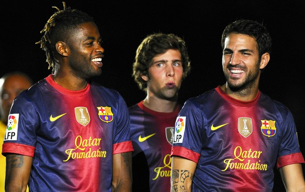 Alex Song Cesc Fàbregas Barcelona (Foto: Getty Images)