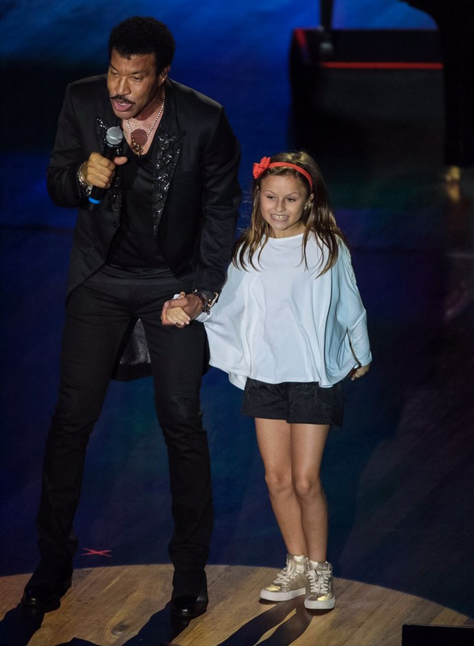 Lionel Richie e Rafa Gomes The Voice Kids (Foto: Naideron Jr)