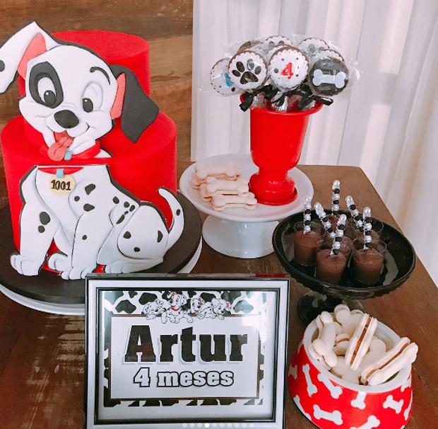 Detalhe da decoração dos 4 meses de Artur, filho de Kelly Key (Foto: Reprodução/Instagram)