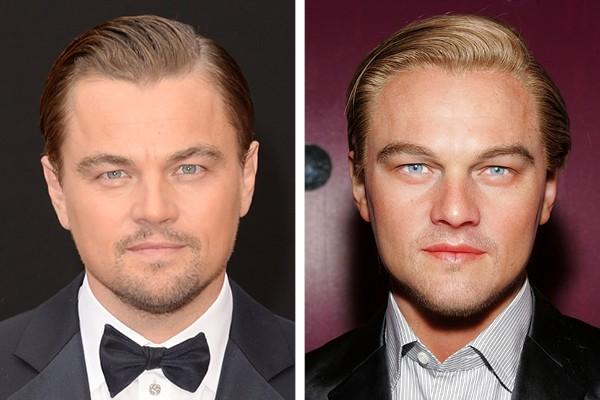 Leonardo diCaprio - à direita, sua estátua de cera (Foto: Getty Images)