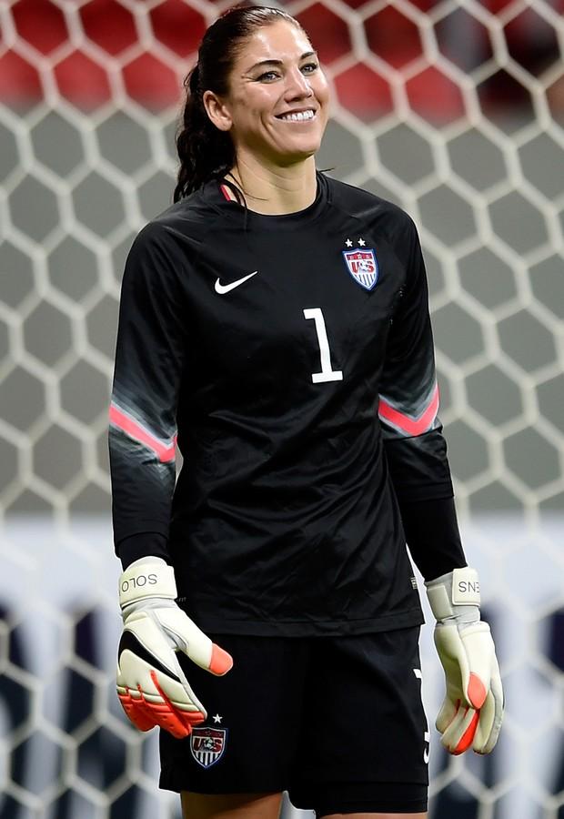 Hope solo,goleira da seleção Olímpica de futebol dos Estados Unidos (Foto: Buda Mendes/Getty Images)