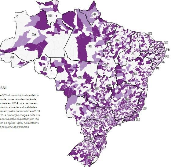 Mapa do desemprego