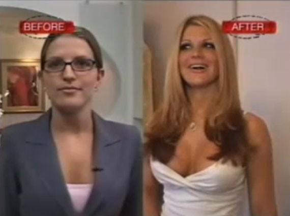 Crystal foi outra personalidade que apareceu no programa da MTV 'I Want a Famous Face'. Na época, ela trabalhava em escritório, mas desejava secretamente se tornar uma stripper. Ela decidiu partir para as cirurgias plásticas e imitar a aparência de Britney Spears. Entre aumentos labiais e implante de seios, a ex-secretária desembolsou US$ 25 mil (Foto: Reprodução)