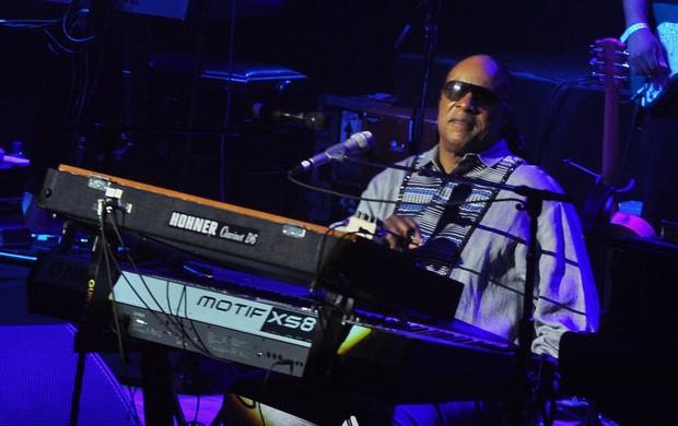 Stevie Wonder faz show no Imperator (Foto: Roberto Teixeira/EGO)