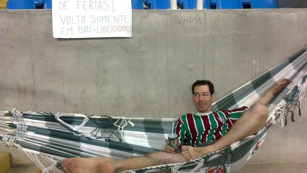 torcedor flu rede engenhão (Foto: Arquivo Pessoal)