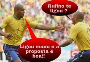 Montagem, Adriano no União-MT (Foto: Reprodução/Facebook)