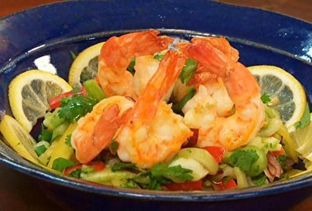 Salada tropical de camarão de Olivier Anquier (Foto: GNT)