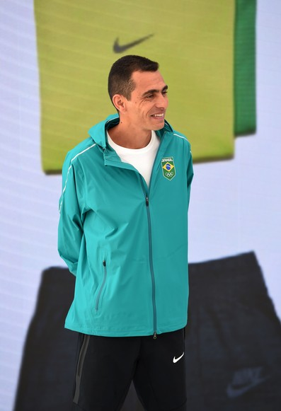 Marilson dos Santos no lançamento de uniforme (Foto: André Durão)