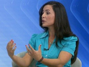 Marcela Moreira foi entrevistada pelo Jornal da EPTV nesta terça (Foto: Reprodução/EPTV)