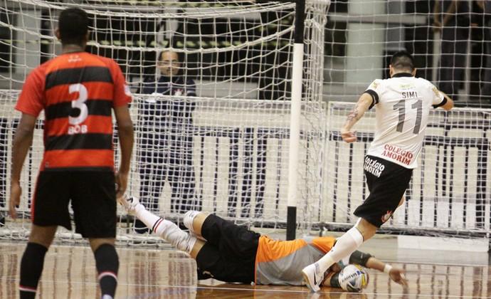 Corinthians x Mogi das Cruzes Liga Paulista Futsal (Foto: Cleomar Macedo)