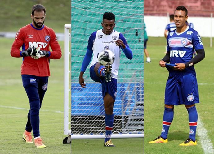 Bahia; Edigar Junio; Muriel; Moisés (Foto: Arte/GloboEsporte.com)