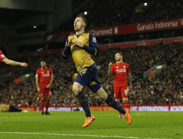 Aaron Ramsey, Liverpool x Arsenal, Campeonato Inglês 2016