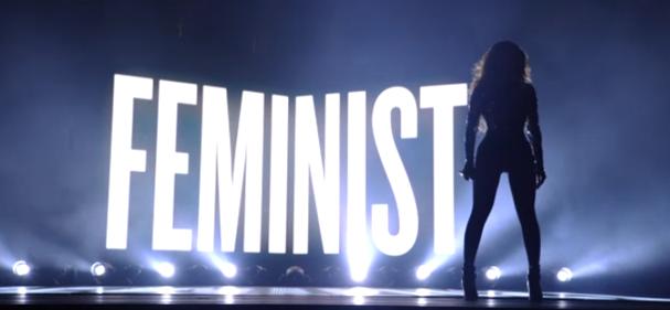 A apresentação superfeminista de ***Flawless, da Beyoncé (Foto: Reprodução)