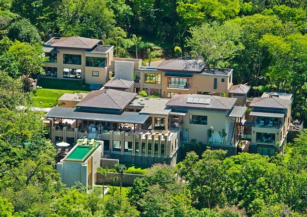 Vista aérea da mansão (Foto: Reprodução)
